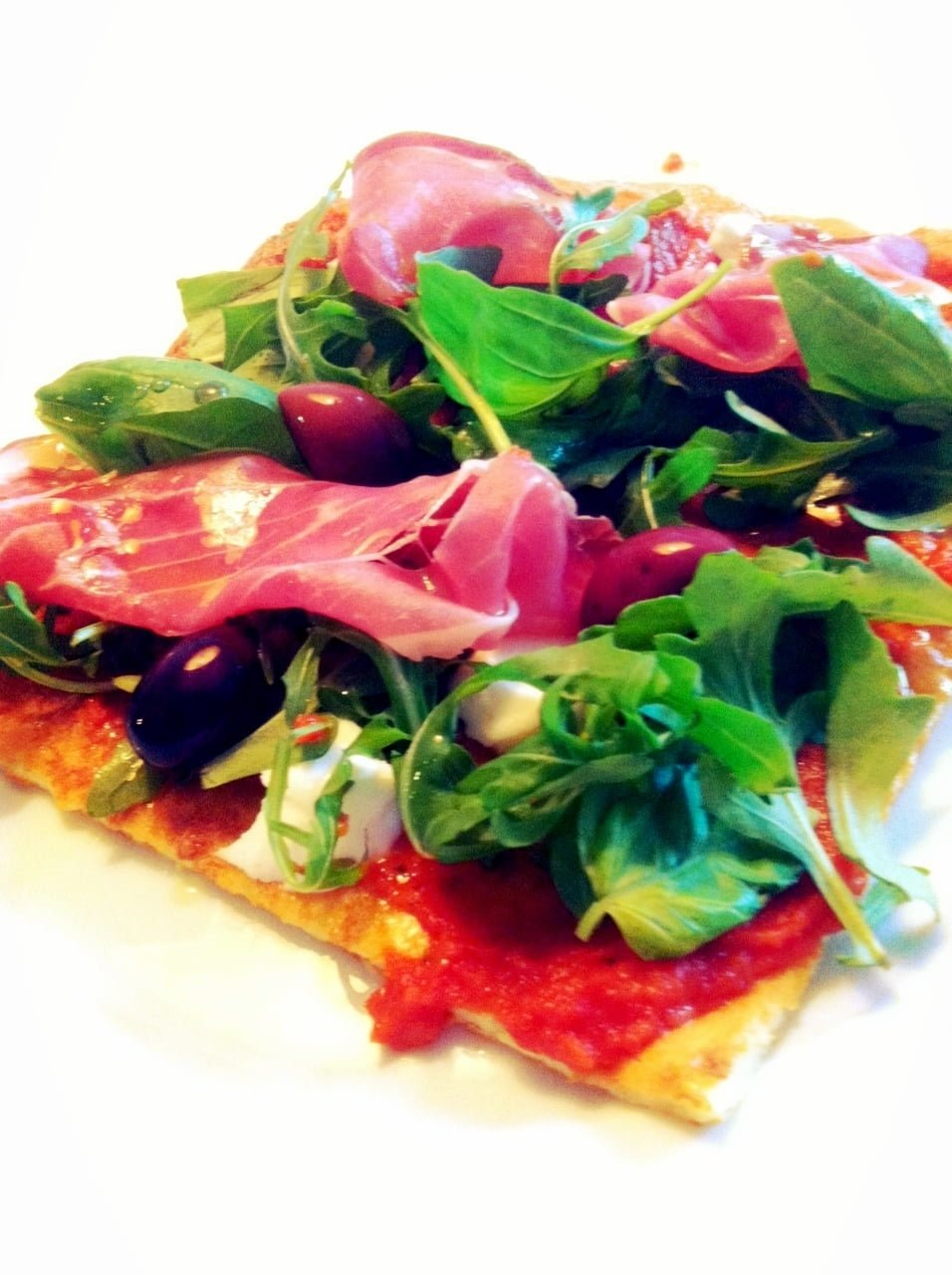 lchf pizza ruccola