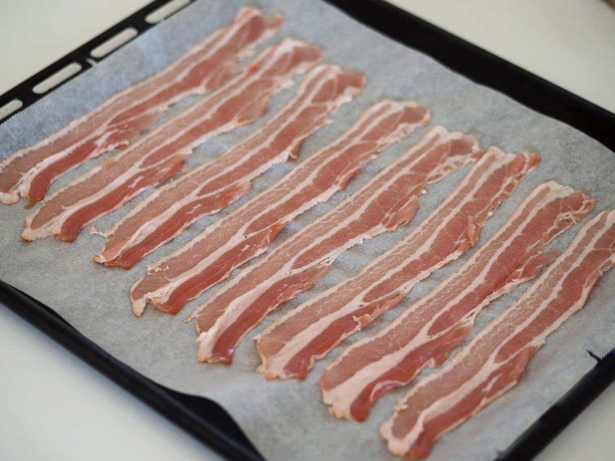 bacon i ugnen