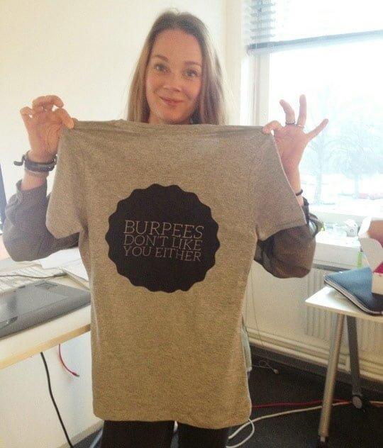 burpees tshirt