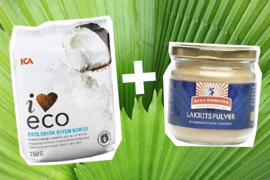 kokos lakritspulver