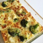 Broccoli och blomkålsgratäng