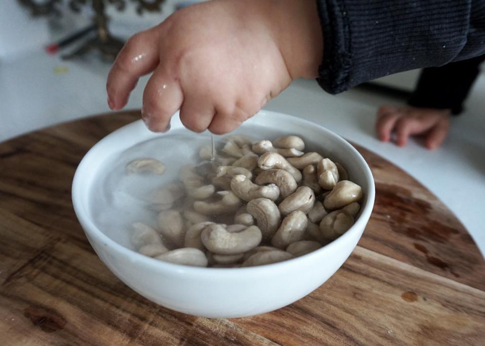 blötläggning nötter cashewmjölk