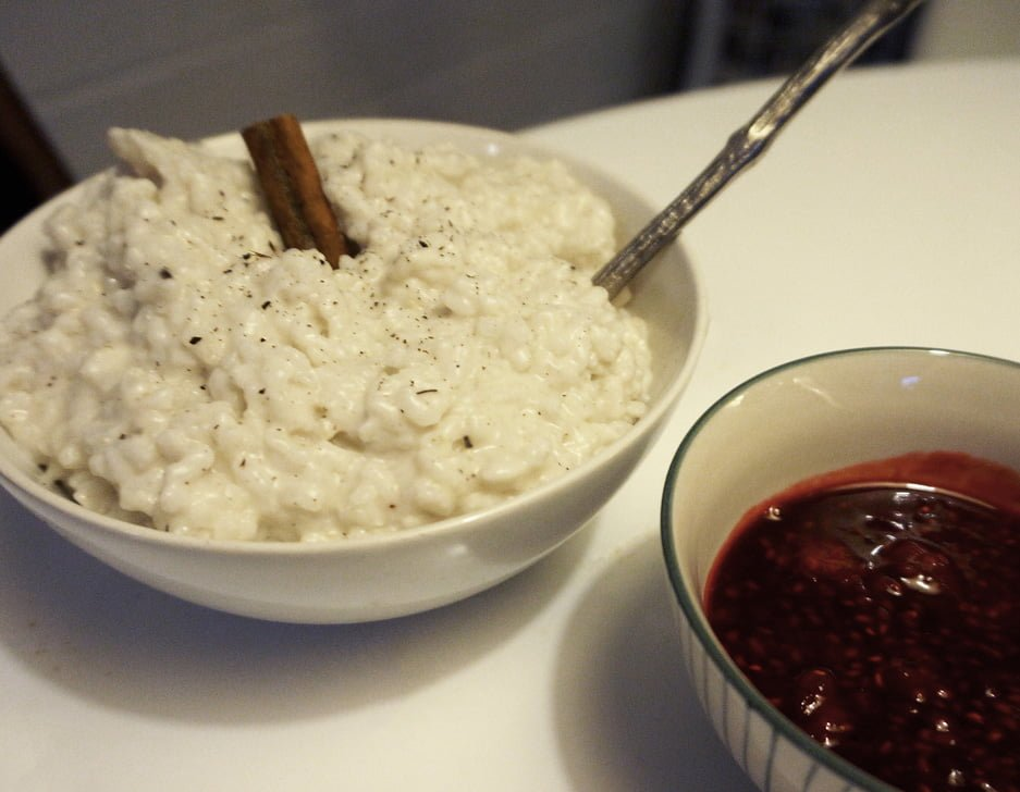 mejerifri risgrynsgröt på kokosmjölk