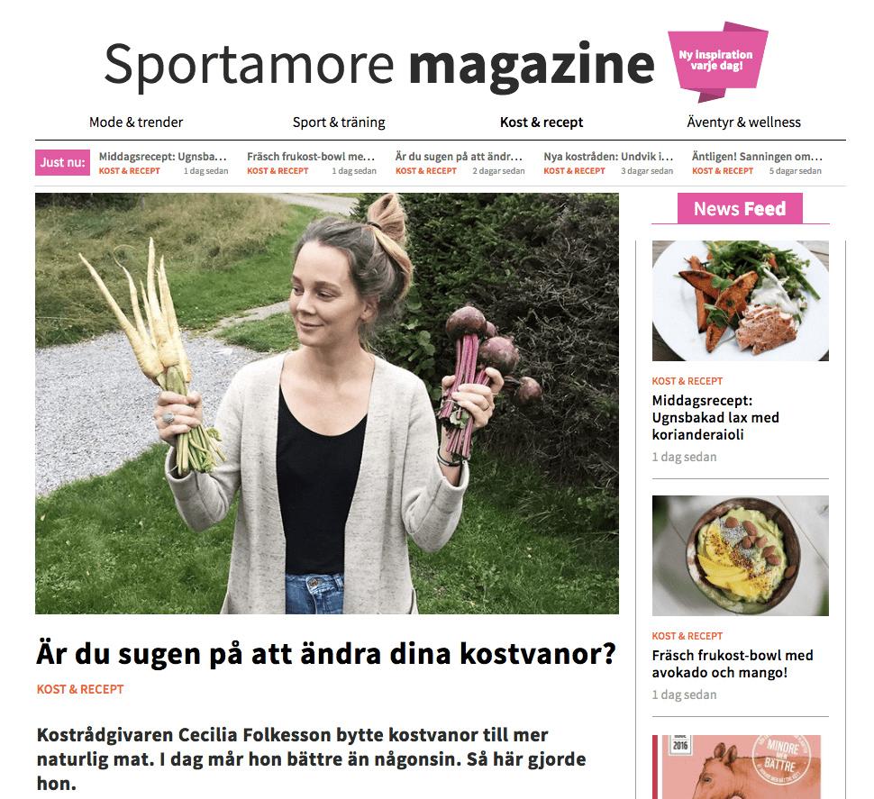 intervju sportamore cecilia folkesson