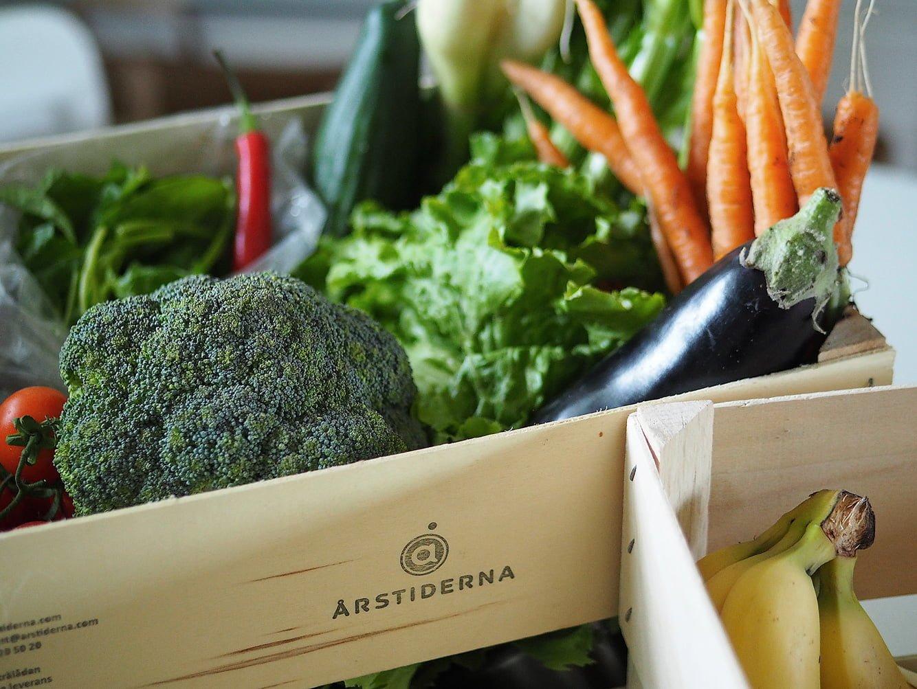årstiderna ekologiska grönsaker