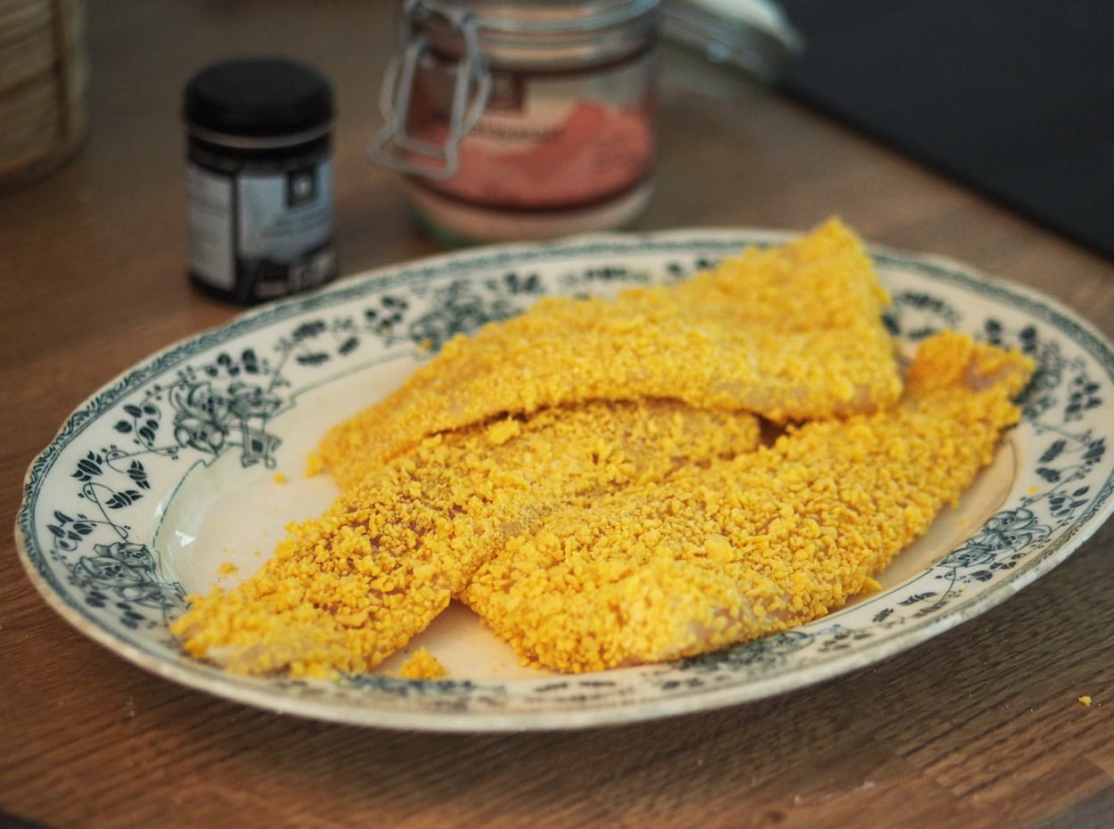 glutenfria fiskpinnar cornflakesfisk