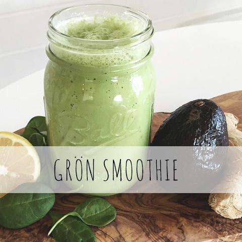 grön smoothie frukost