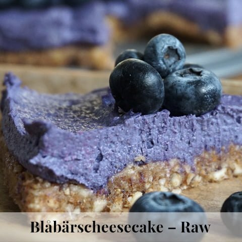 blåbärscheesecake raw