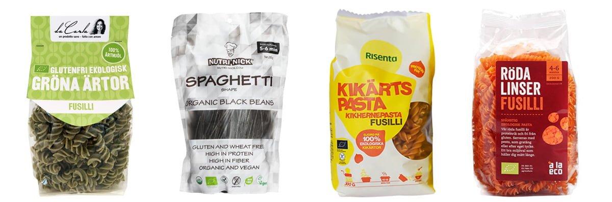 glutenfri pasta bönor linser ärtor