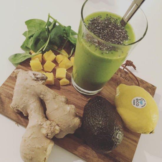 grön smoothie ingefära avokado