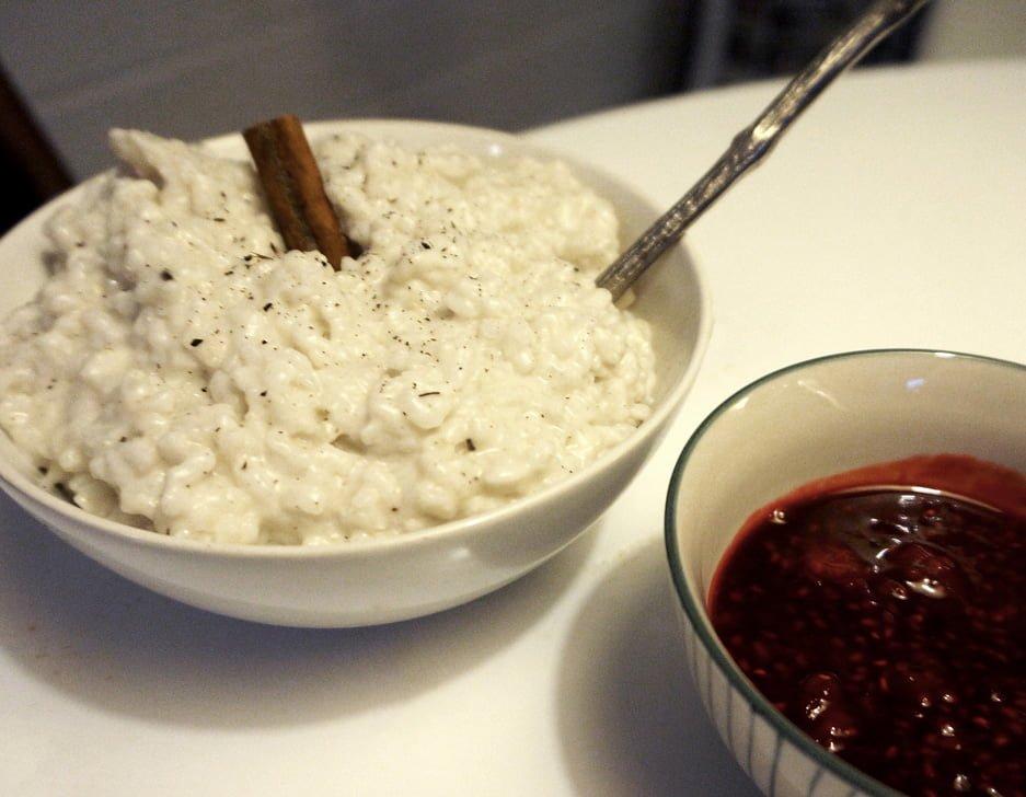 risgrynsgröt på kokosmjölk
