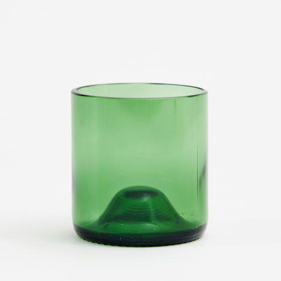 earthy glas återvunna vinflaskor grön