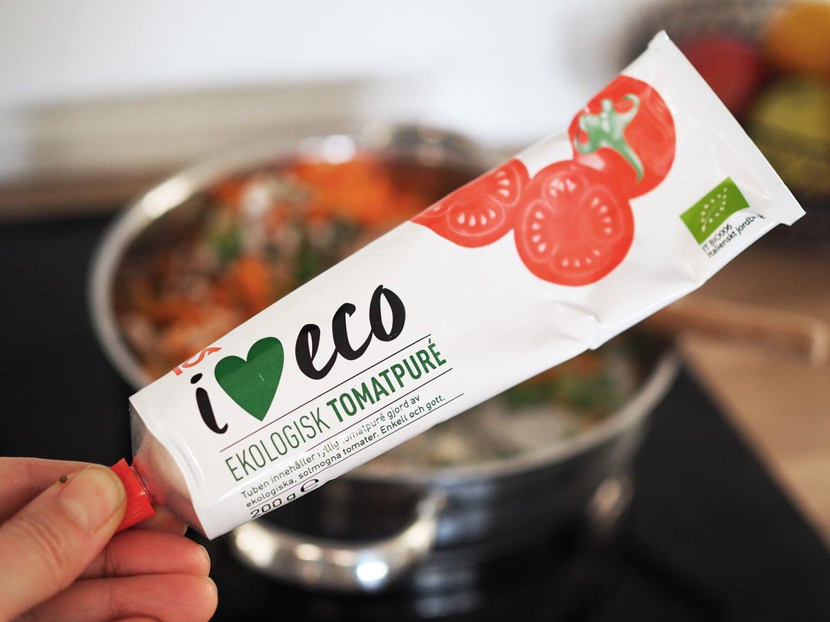 ekologisk tomatpuré