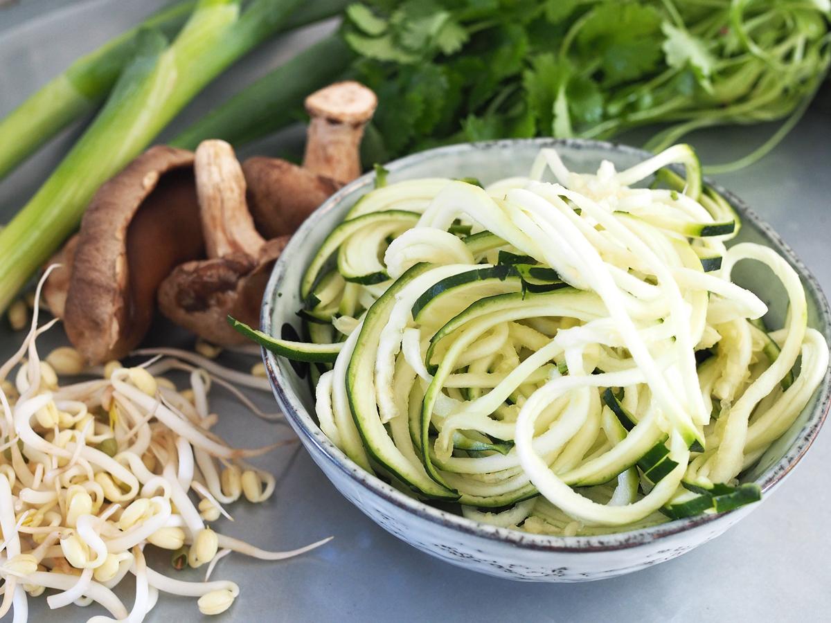 vegetarisk ramen zoodles