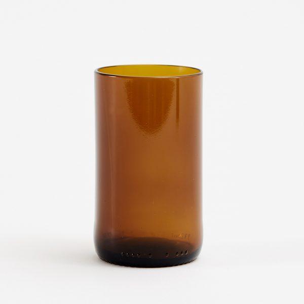 earthy glas återvunna ölflaskor brun