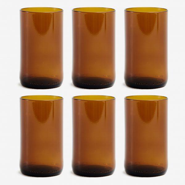 earthy glas återvunna ölflaskor