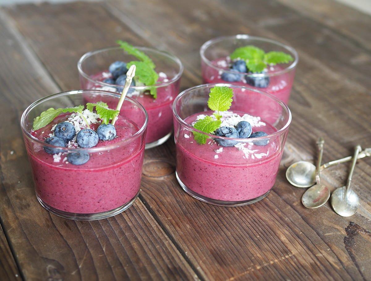 nyttig blåbärssmoothie mejerifri