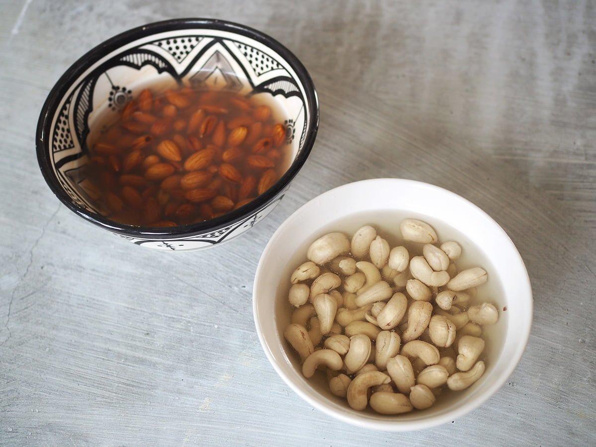 blötlägga nötter