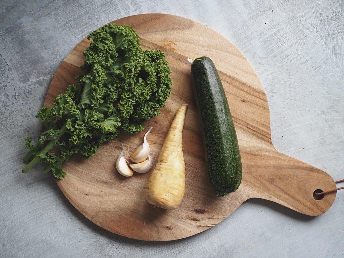 varm sallad med grönkål