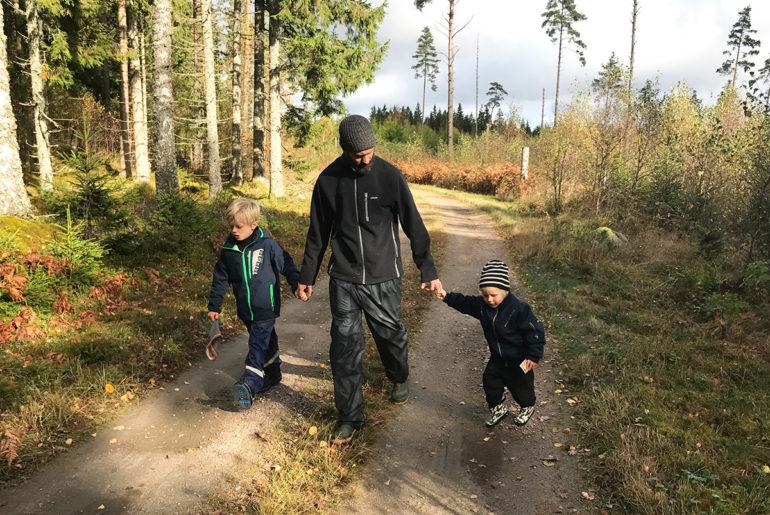 hofsnäs skogen med barnen