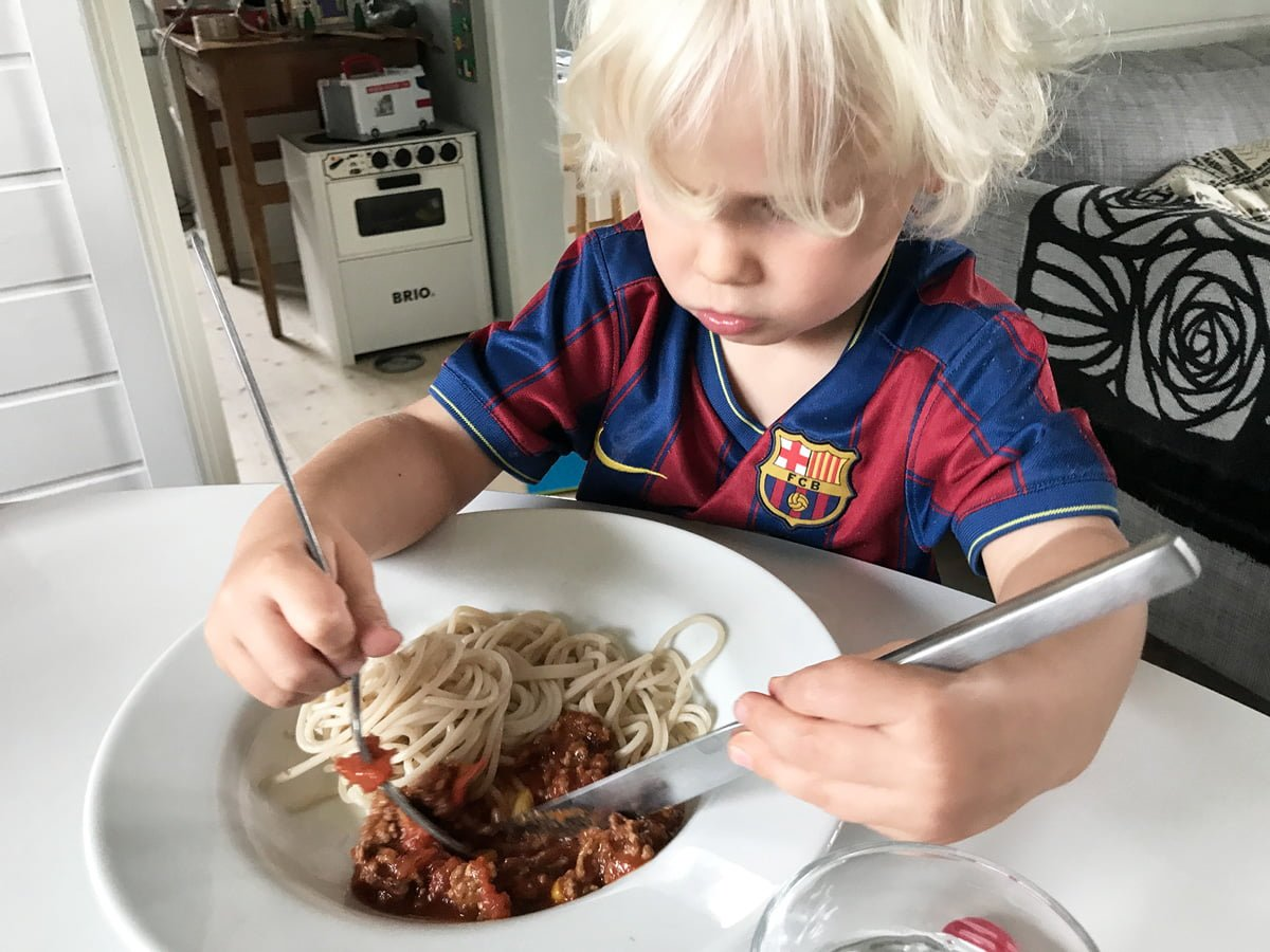 köttfärssås glutenfri pasta