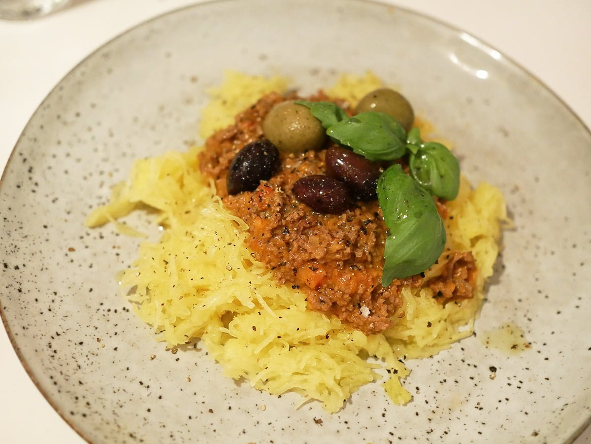 pumpaspagetti köttfarsås