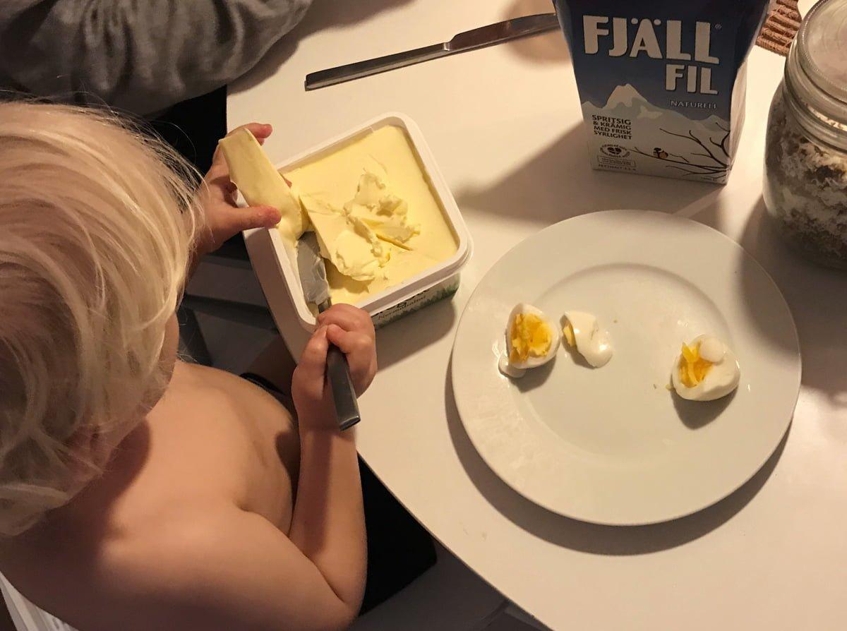 ägg smör barn