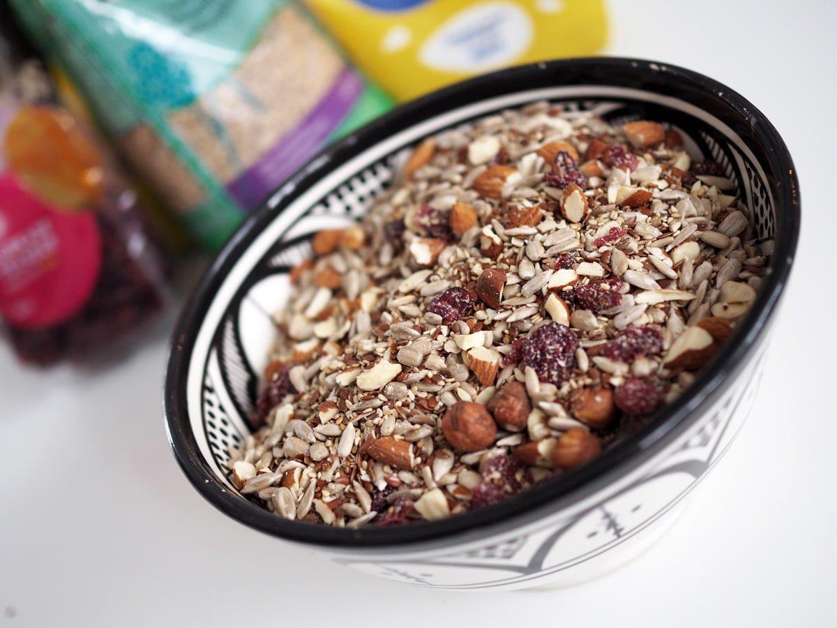 fröbröd med nötter glutenfritt paleo