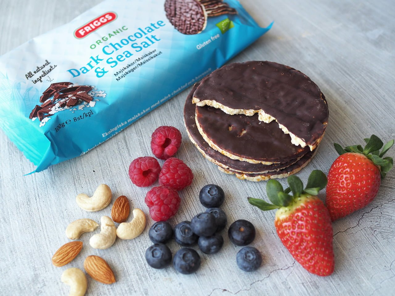 friggs ekologiska majskakor choklad