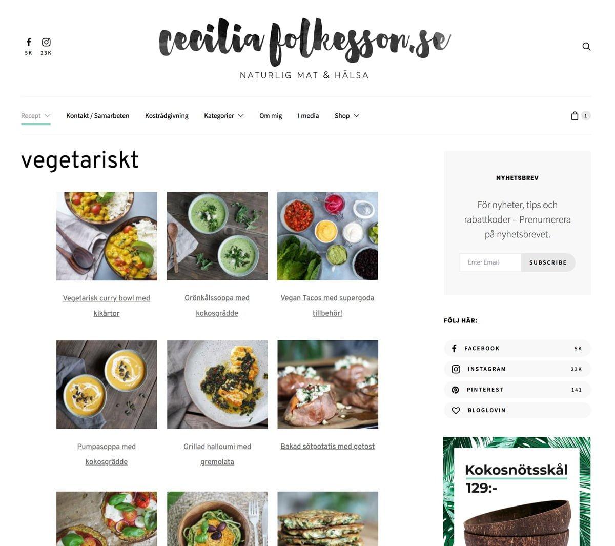 recept ceciliafolkesson vegetariskt