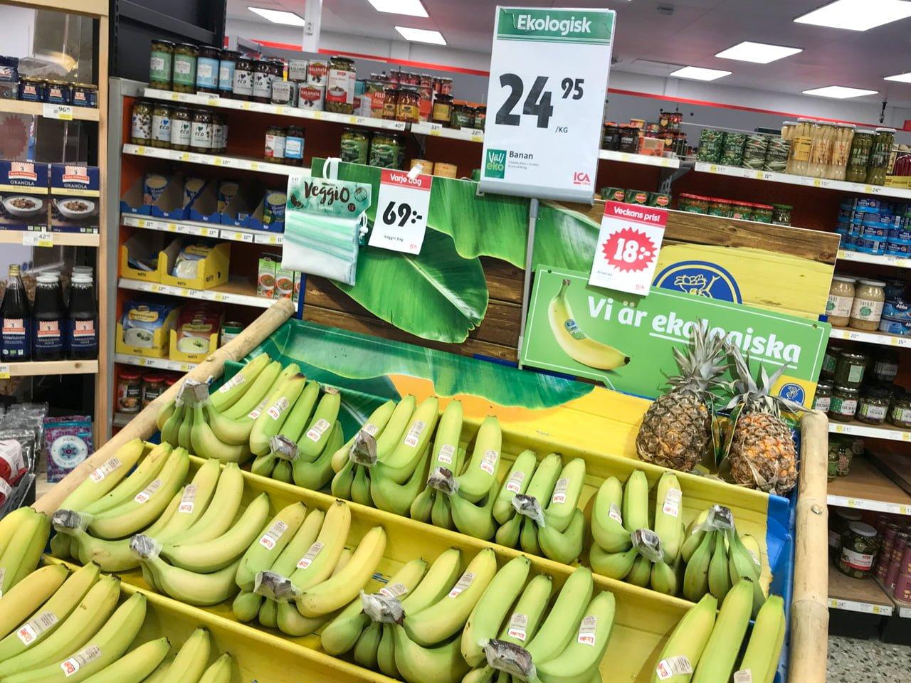 ekologiska bananer