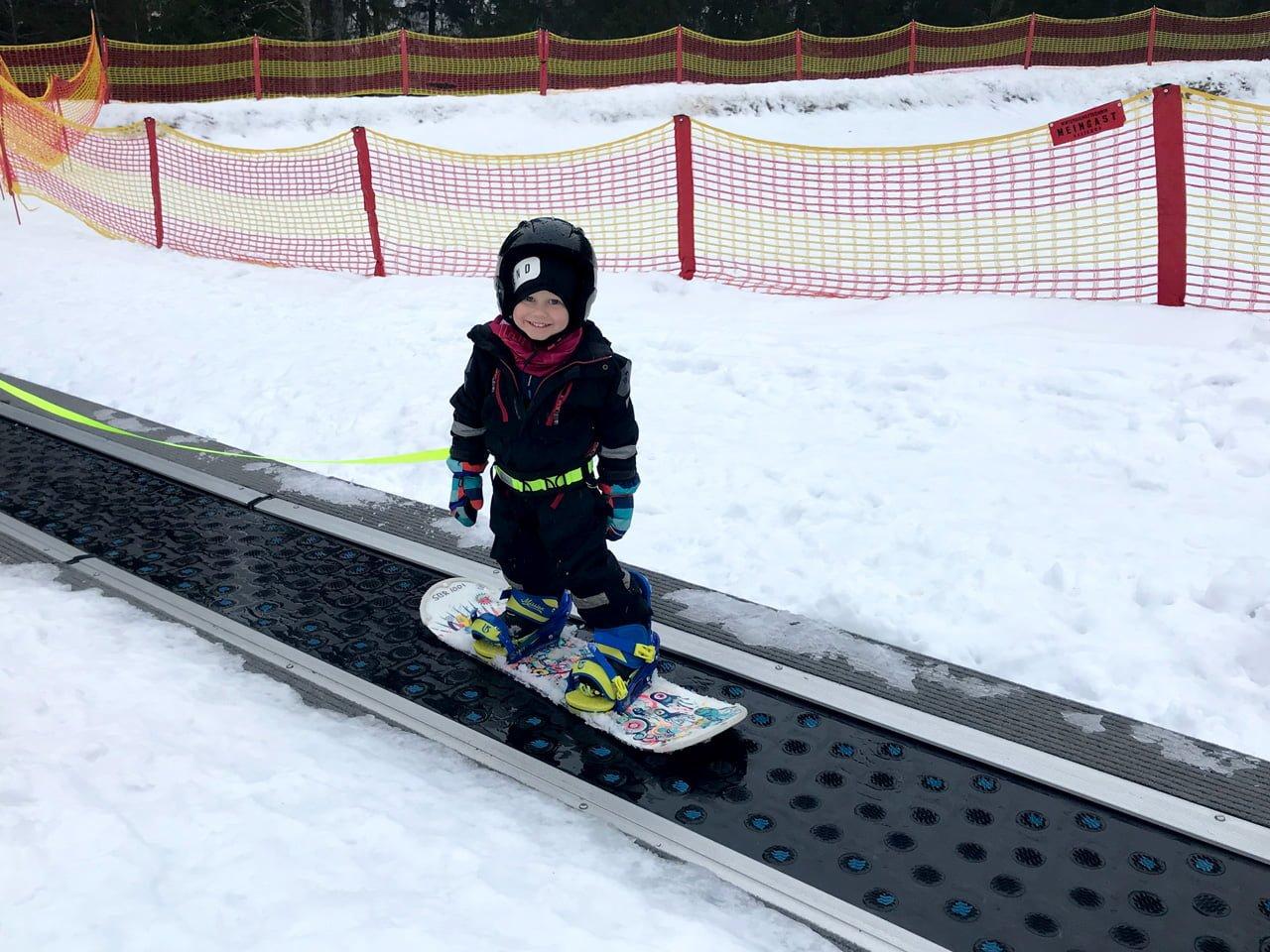 snowboard isaberg barnbacken