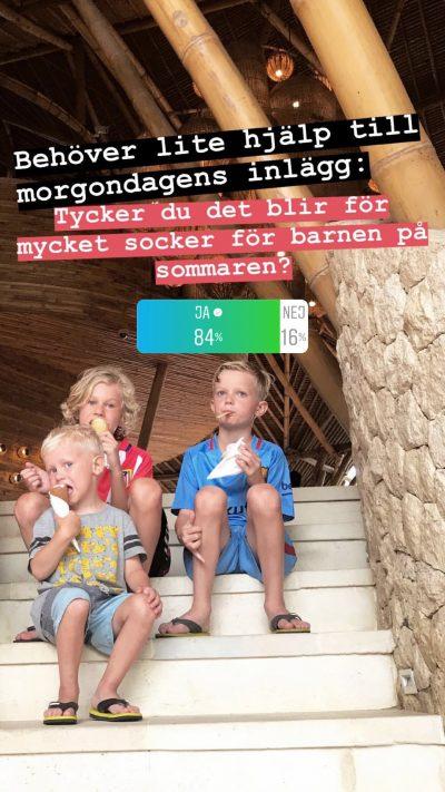 socker barn sommar