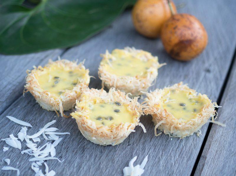 coconut nest lemon curd