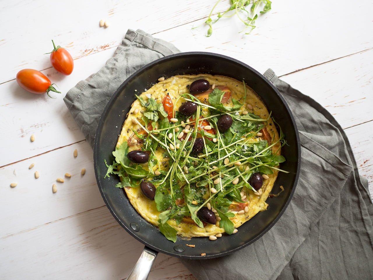 italiensk omelett i ugn