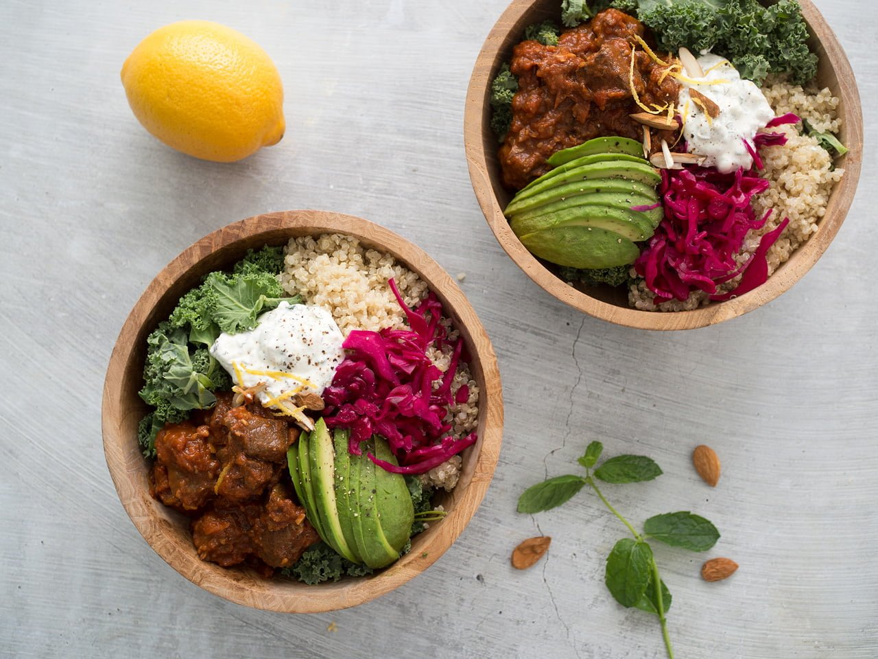 lammgryta quinoa myntayoghurt