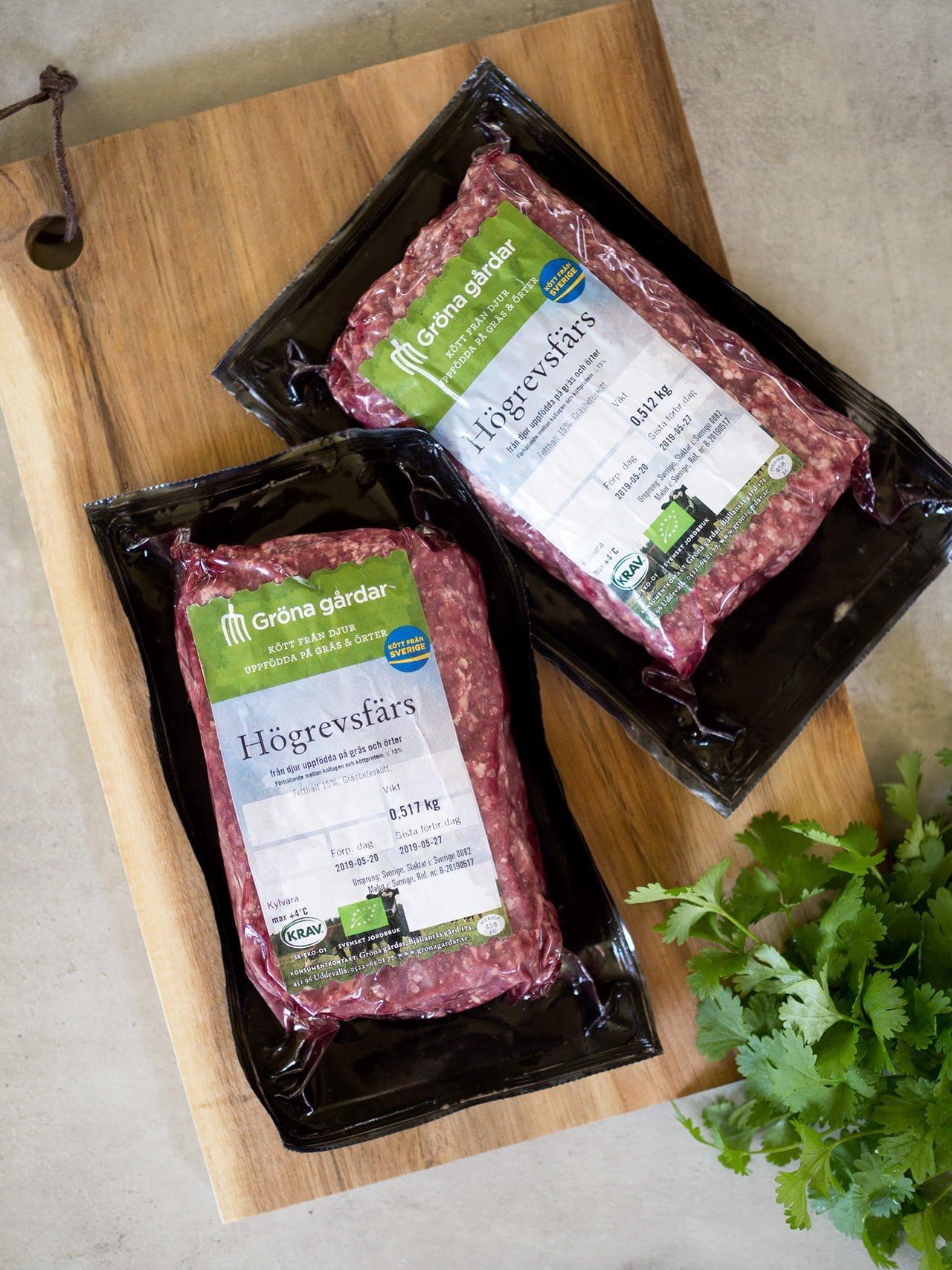 ekologiskt kött gröna gårdar