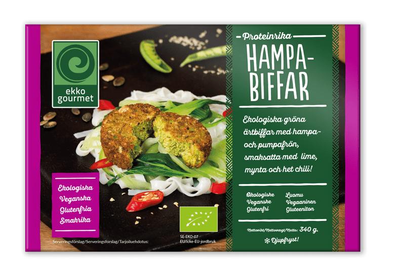 Glutenfria vegetariska biffar hampabiffar