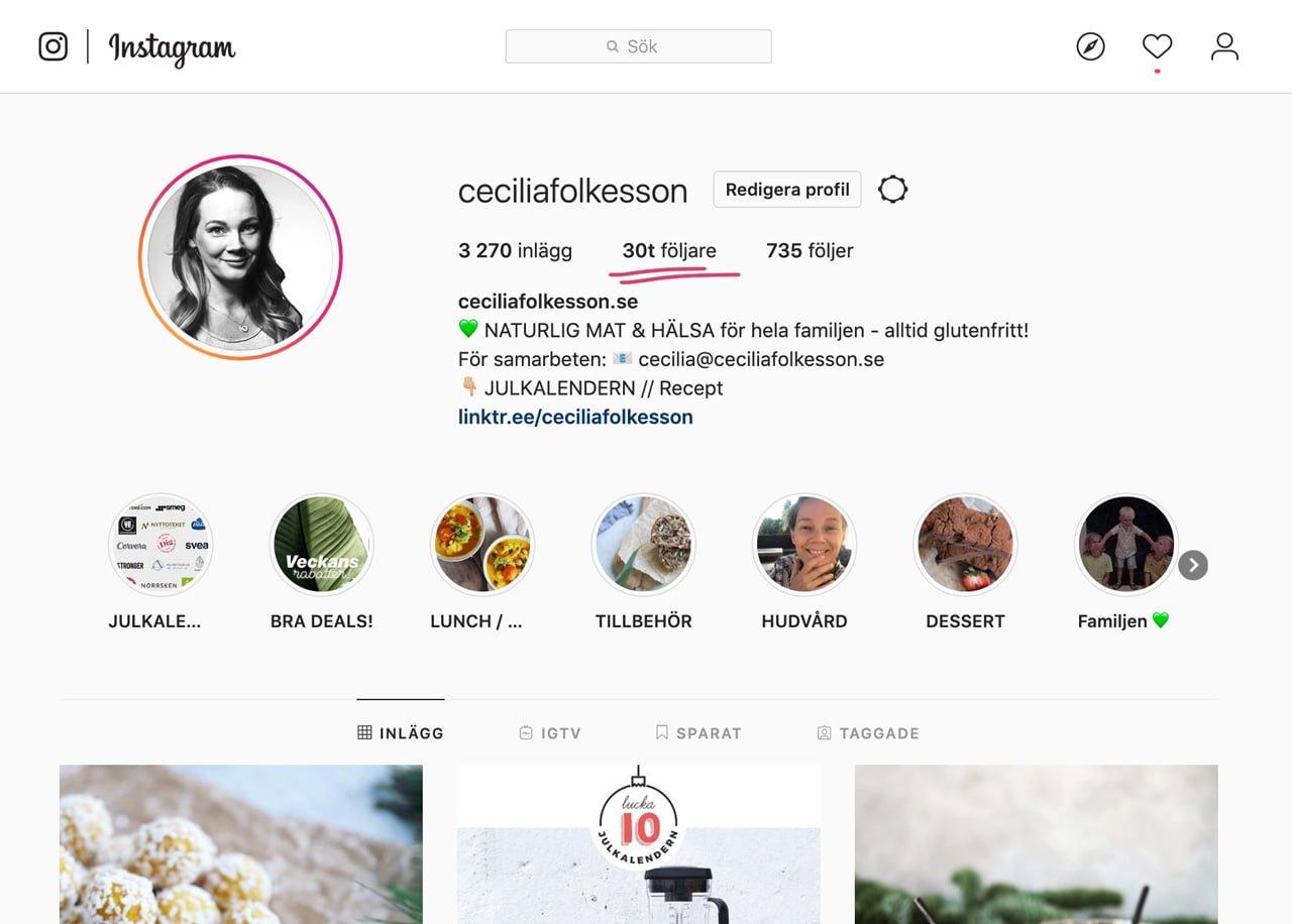 cecilia folkesson instagram 30000