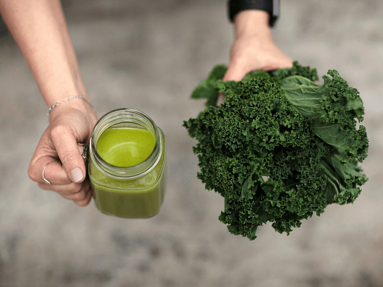 grön nyttig smoothie