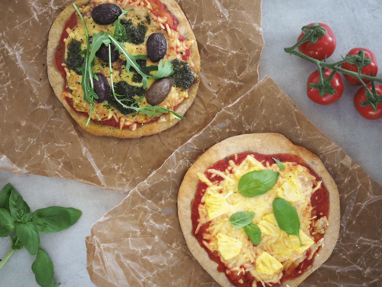 glutenfri vegansk pizza oddlygood