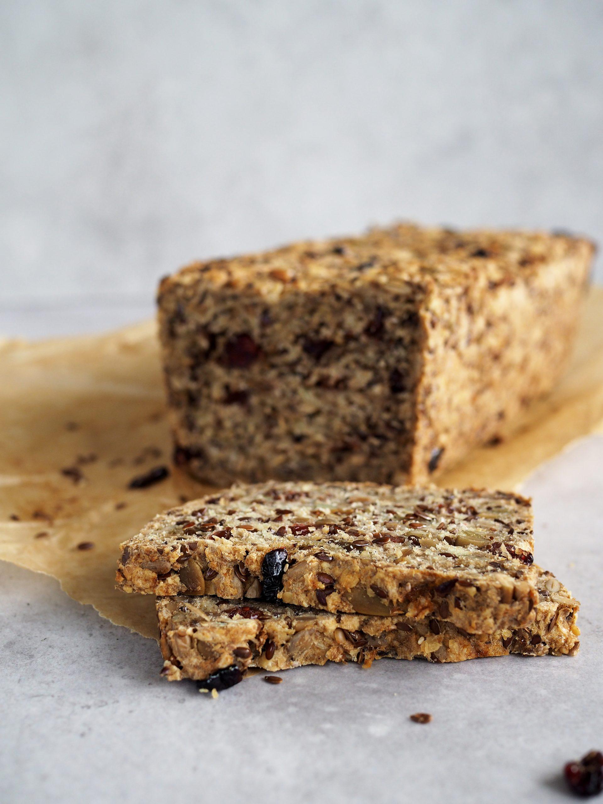 Glutenfritt veganskt bröd