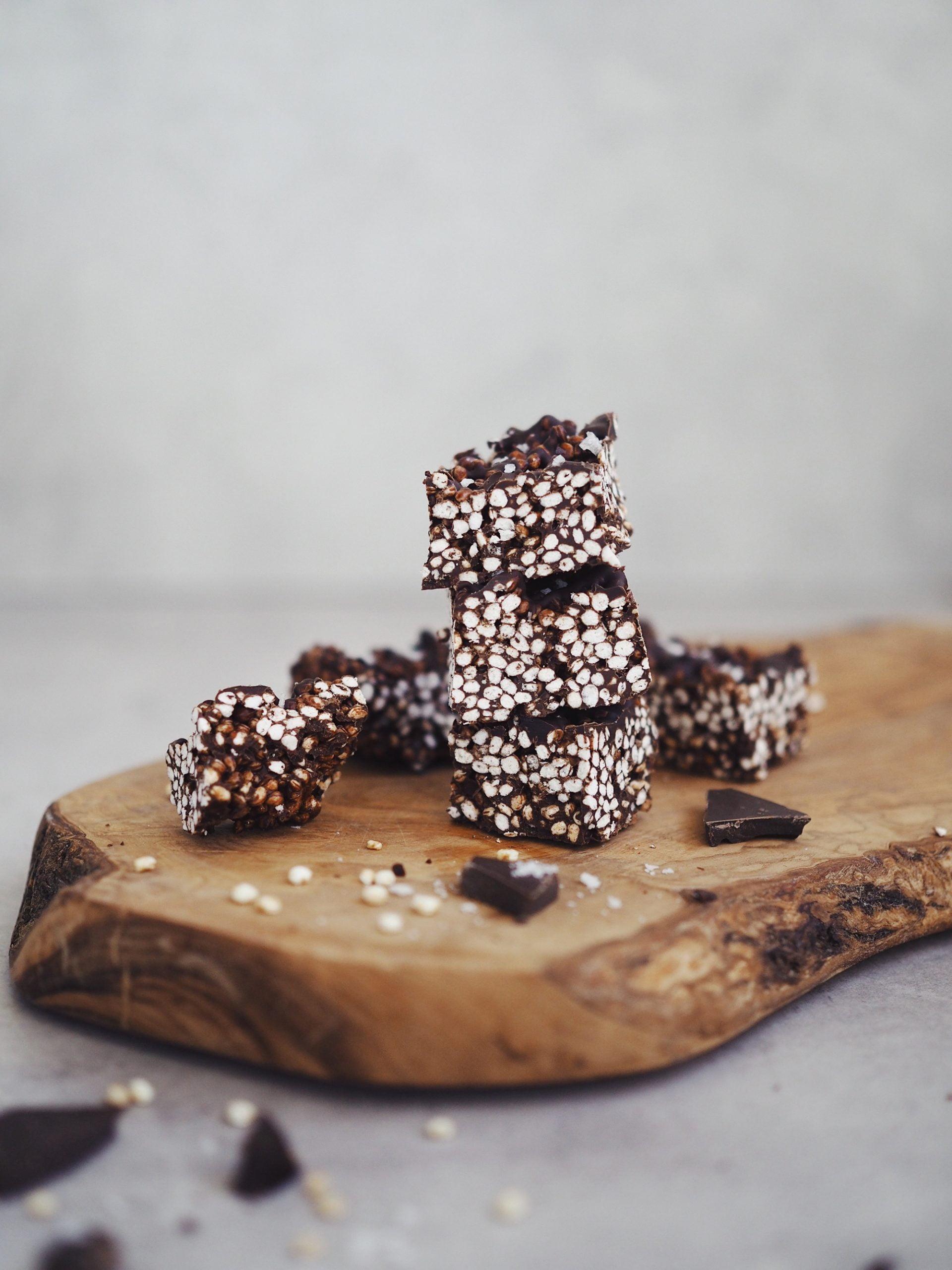 Chokladbars med quinoapuffar