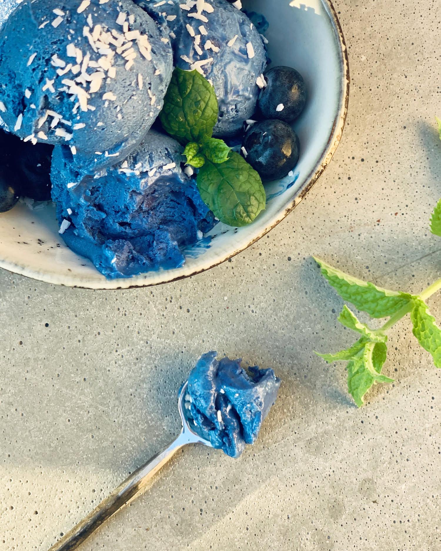 cashewglass blå spirulina