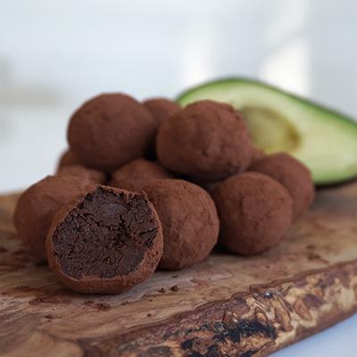 Avokado chokladkulor