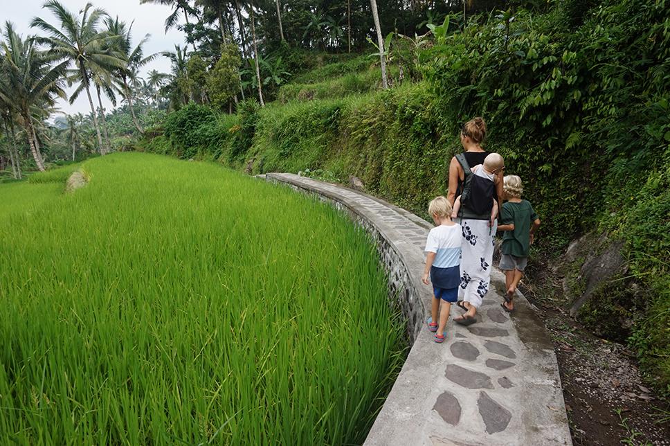 resa med barn Bali