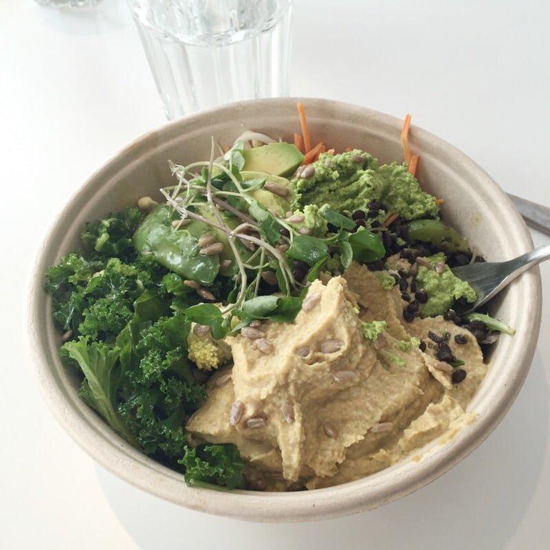 sallad med grönkål