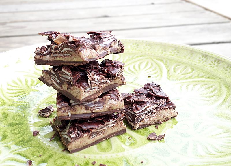 choklad- och madelsmörsrutor