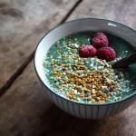grön smoothie bowl